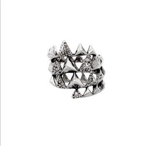 House of Harlow Pyramid Wrap Ring in Silver